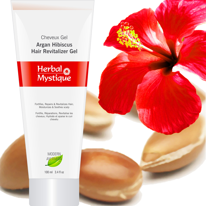 Hair Growth Argan Hibiscus Gel For Hair Care And Treatment Of